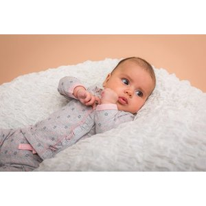 DIRKJE BABYKLEDING baby longsleeve stars basics grey melee + aop