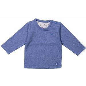 DIRKJE BABYKLEDING baby longsleeve pocket basics blue melee