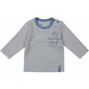DIRKJE BABYKLEDING baby longsleeve stripe basics grey melee + stripe