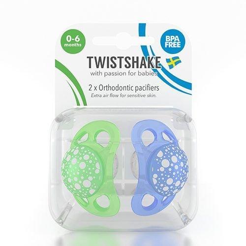 Twistshake Twistshake 2x fopspeen blauw+groen