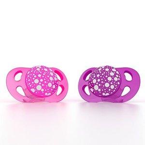 Twistshake 2x fopspeen roze+paars
