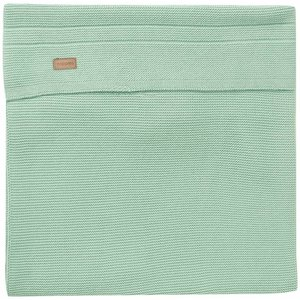 NOPPIES nos baby bed deken knit nola  120x120 cm grey mint