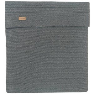 NOPPIES nos cradle deken knit norcia 75x100 cm dark grey melange
