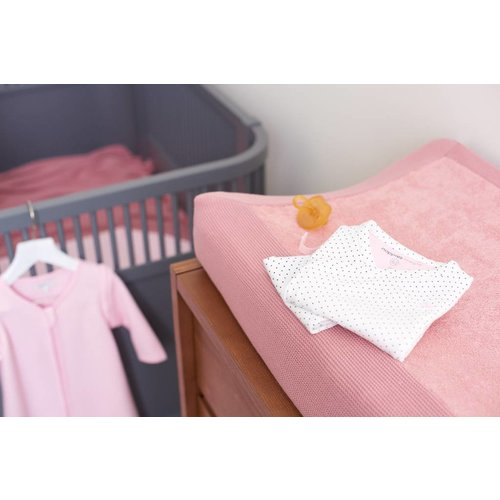 NOPPIES Noppies nos changing mat cover knit noli 60x50x10 cm old pink