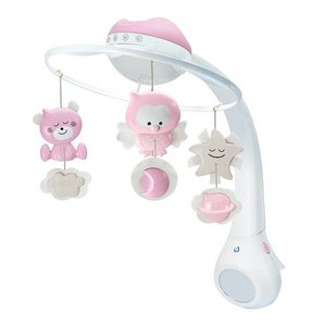 Infantino Musical 3 in 1 projector mobile Pink