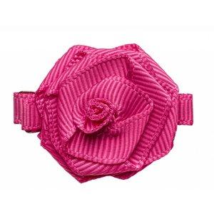 PRINSESSEFIN Baby speld met roos hot pink