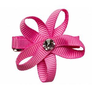 PRINSESSEFIN Baby speld met bloem hot pink