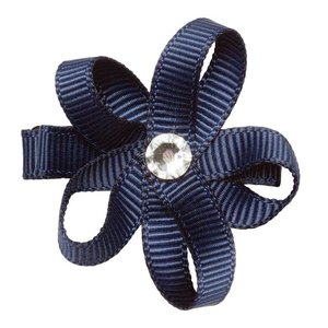 PRINSESSEFIN Baby speld met bloem marineblauw