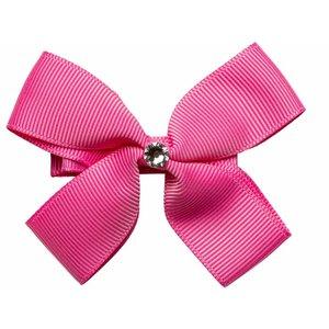 PRINSESSEFIN speld met dubbele strik hot pink