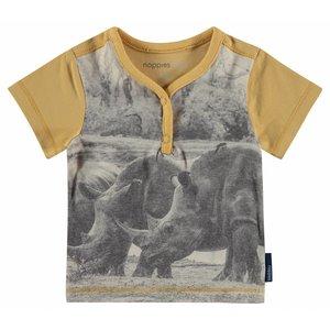 NOPPIES t-shirt lathrop geel