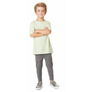 Nop t-shirt lynn grijs met gele strepen