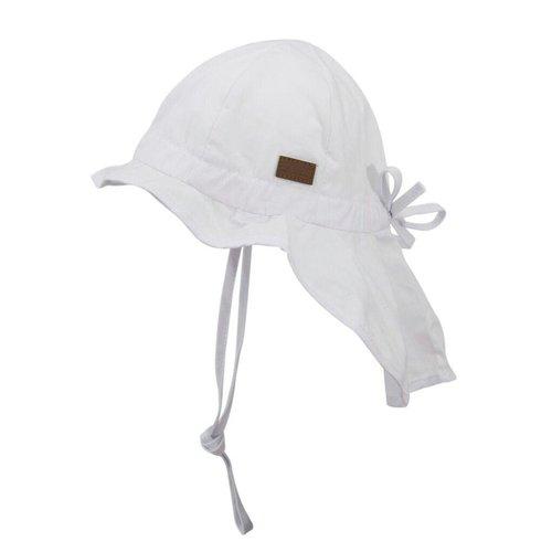 MELTON MELTON zonnehoed neck & bow solid colour white