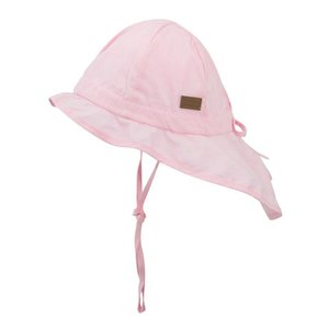 MELTON zonnehoed neck & bow solid colour baby pink