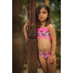 LENTIGGINI meisjes baby bikini tanktop aop light pink black/pink