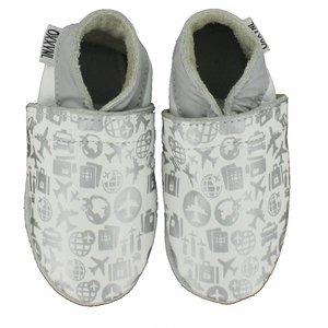 OXXY schoenen zachte zool white-silver airplane print