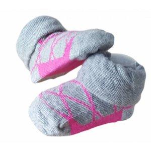 APOLLO sokjes ballerina roze met grijs giftbox! Newborn