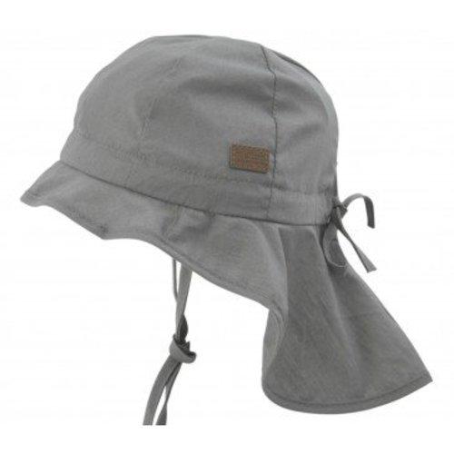MELTON MELTON zonnehoed neck & bow solid colour grey