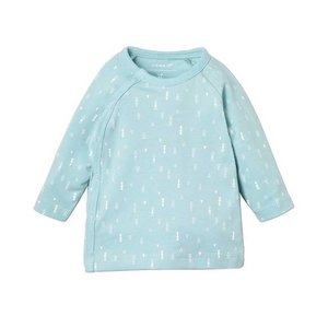 NAME IT unisex delucious wrap longsleeve canal blue nos