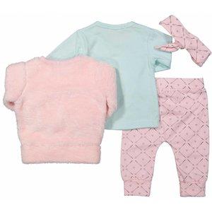 8c63108be9e221 DIRKJE BABYKLEDING Dirkje meisjes 3 delige set en hoofdband light pink/grey/ mint tiny