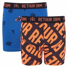 RETOUR DENIM DE LUXE jongens 2 pack boxershort blue / black jacob
