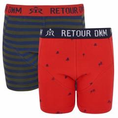 RETOUR DENIM DE LUXE jongens 2 pack onderbroek red / green mathew