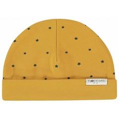 NOPPIES unisex muts reversible honey yellow marjolein aop