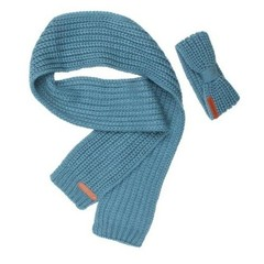 MOODSTREET meisjes hoofdband en sjaal petrol