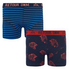 RETOUR DENIM DE LUXE jongens 2 pack onderbroek blue / navy sven