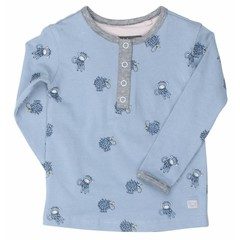 MOODSTREET meisjes t-shirt 2 button closure ice denim
