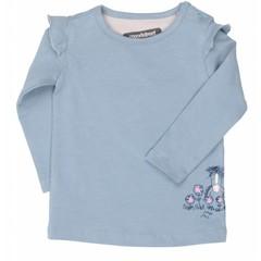 MOODSTREET meisjes t-shirt ruffle detail ice denim
