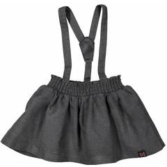 KOKO NOKO meisjes rok met bretels dark grey