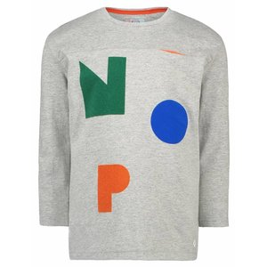 Nop jongens longsleeve grey melange willowick