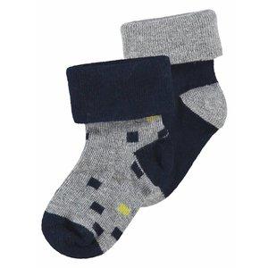 NOPPIES jongens sokken 2 pack grey melange warrensburg