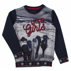 D-RAK meisjes trui navy/print