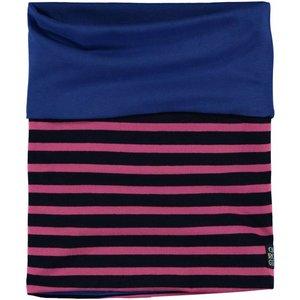 Quapi meisjes sjaal dark blue stripe lea 3