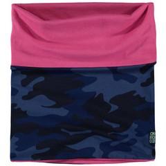 Quapi meisjes sjaal dark blue camouflage  lea 3
