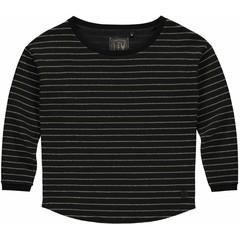 LEVV meisjes longsleeve black stripe