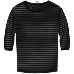 LEVV meisjes jurk black stripe