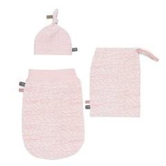 SNOOZEBABY meisjes newborn set met muts en tas pink blizzard (0-3)