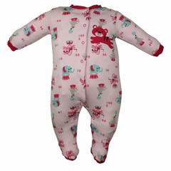 Pekkle meisjes babysuit tiger roze