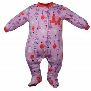 Pekkle meisjes babysuit elephant kite paars