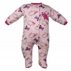 Pekkle meisjes babysuit sleepy bear/koala roze