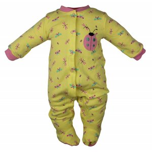 Pekkle meisjes babysuit lieveheersbeestje geel