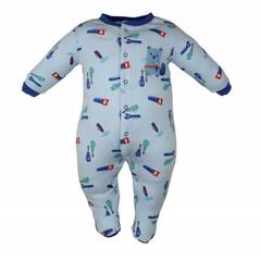 Pekkle jongens babysuit tools blauw