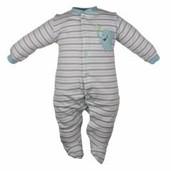 Pekkle jongens babysuit elephant ball brown stripe