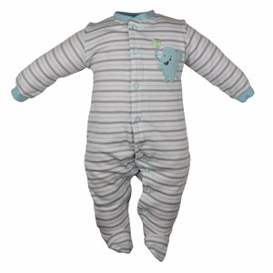 Pekkle jongens babysuit elephant ball brown stripe