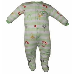 Pekkle jongens babysuit monkey mint green