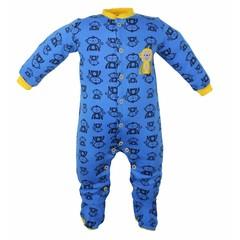 Pekkle jongens babysuit monkey blauw