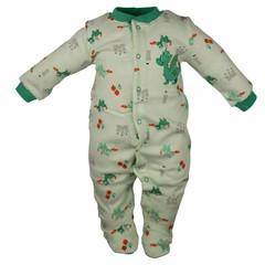 Pekkle jongens babysuit dragon mint groen