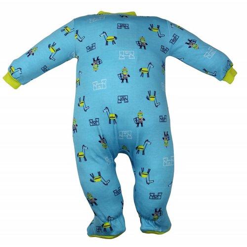 Pekkle Pekkle jongens babysuit knight blauw
